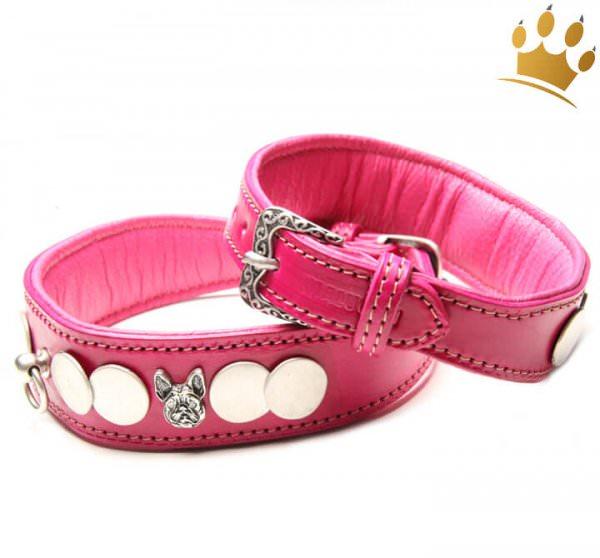 Malucchi Hundehalsband französisch Bulldogge Pink