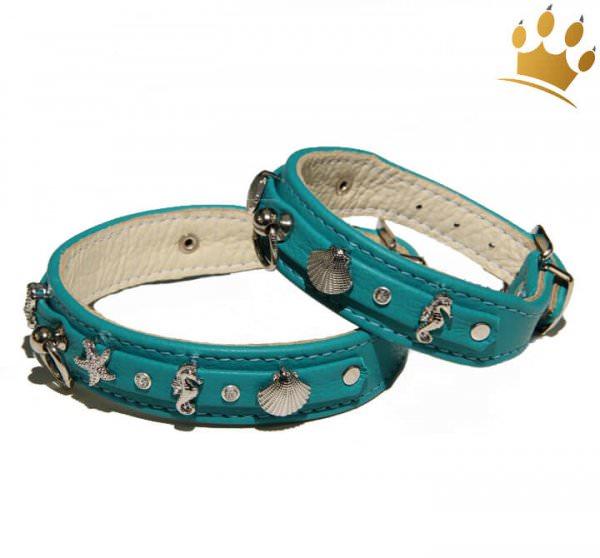 Hundehalsband Meeresbrise Türkis