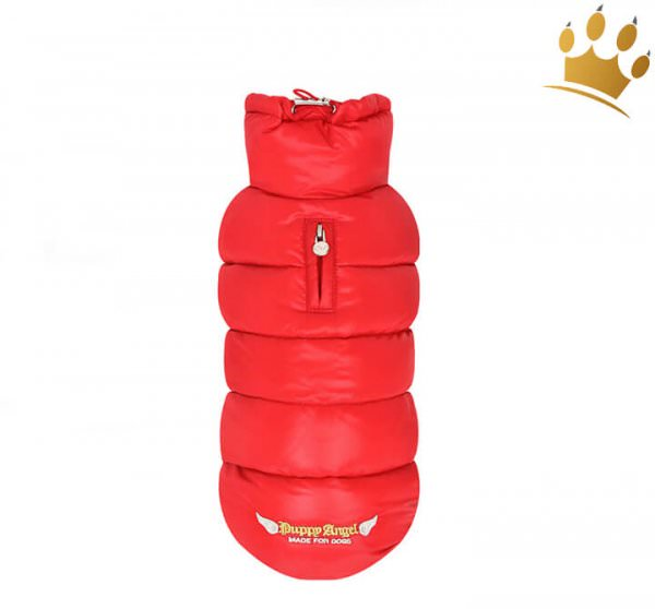 Puppyangel Hundemantel Hundebekleidung Love Faux Rot