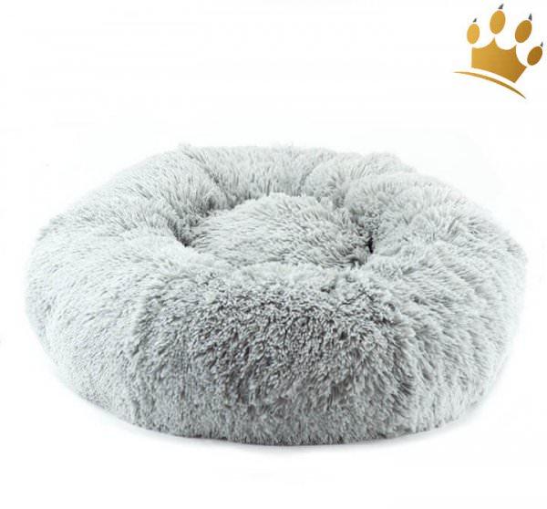 Hundebett Donut Round Plantium Grey Shag
