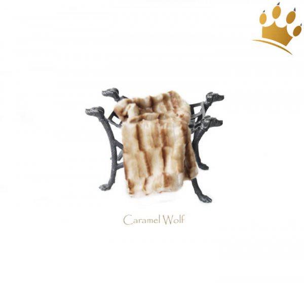 Kuscheldecke Blanket Caramel Wolf