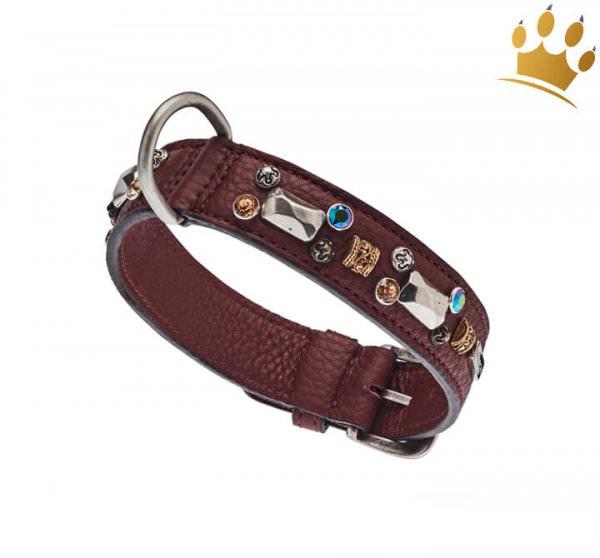 Malucchi Hundehalsband Petra 3cm Braun