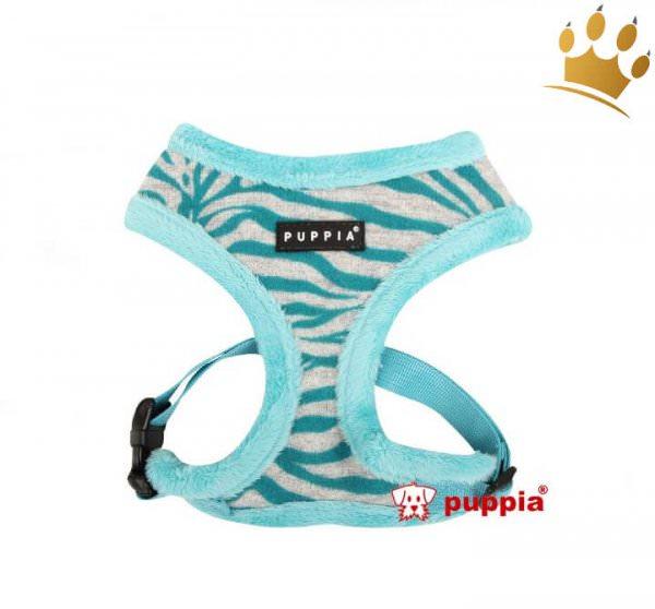 Puppia Softgeschirr Modern Zebra Aqua