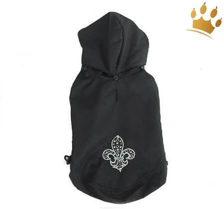 Hundemantel Fleur de Lis Black