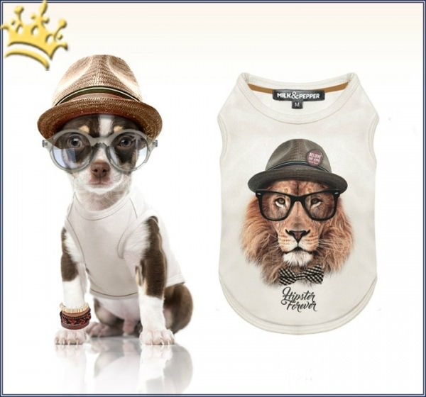 Milk & Pepper Hunde-T-Shirt Leo