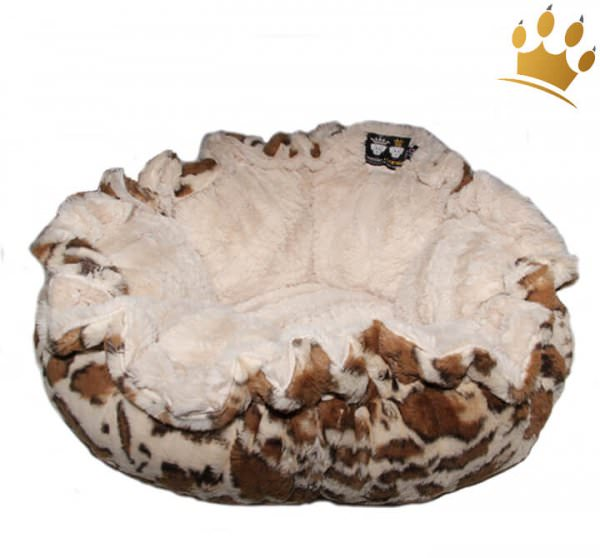 Hundebett Bessie & Barnie Cuddle Pod - Giraffe - Natural