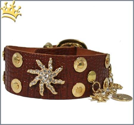 Hundehalsband Estrella de Mar Braun