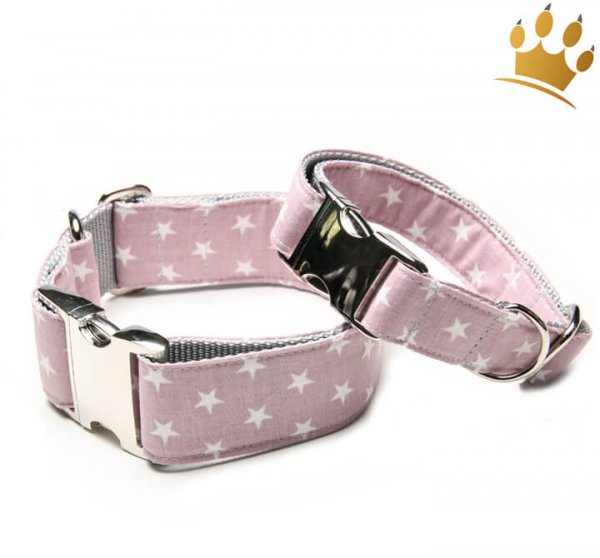 Hundehalsband Little Star Rosa