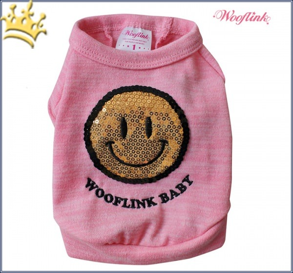 Wooflink Hunde-Shirt Smile Rosa