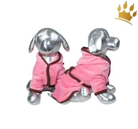 Hundebademantel Sweet Spa Pink