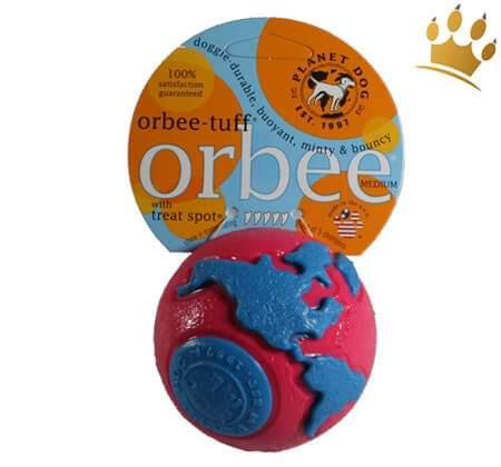 Planet Dog Orbee Ball Pink/Blau
