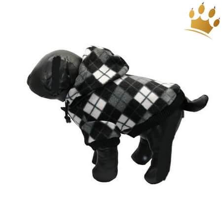 Hundejacke Checker black