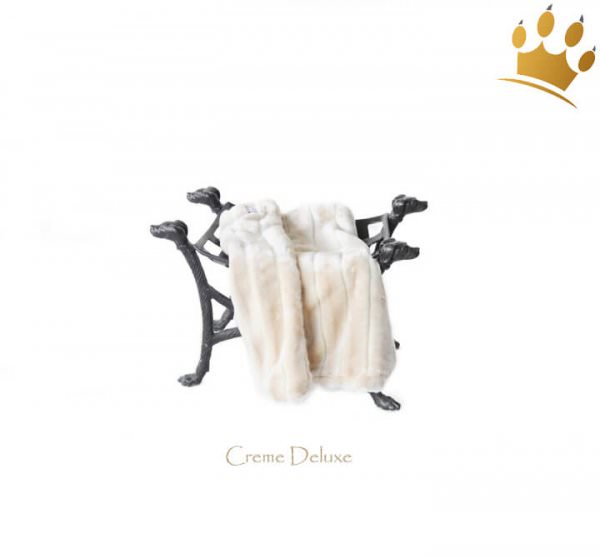 Kuscheldecke Blanket Creme Deluxe Wolf