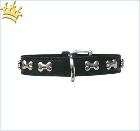 Hundehalsband Blinking Bones Black