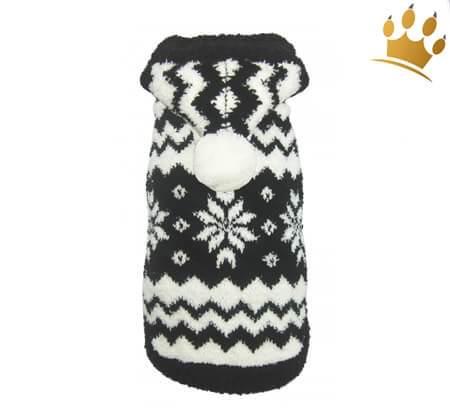 Hunde-Pullover Snowflake Noir