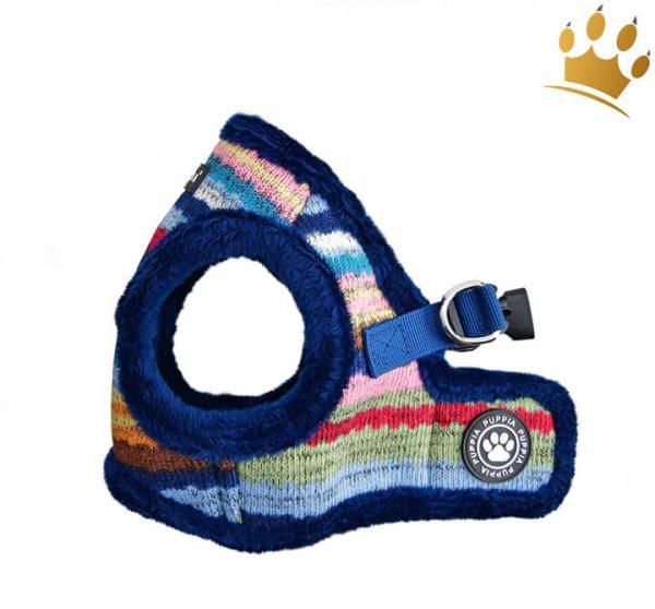 Puppia Step-In Hundegeschirr Crayon Blau