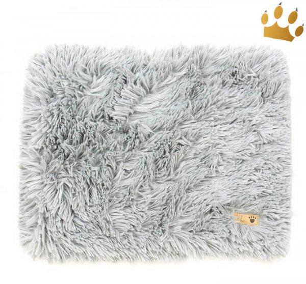 Susan Lanci Hunde Cuddle Plaid Shag Grey
