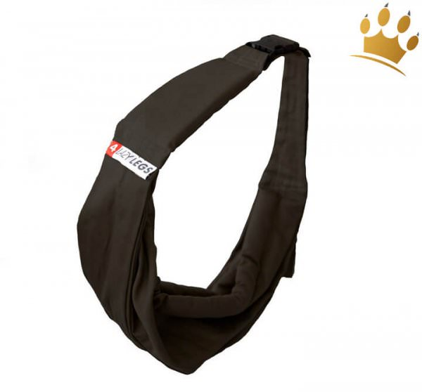 4LazyLegs Bauchtasche Basic Schwarz - Hundetragetuch