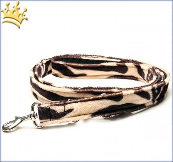 Fell-Leinen Zebra Hellbraun