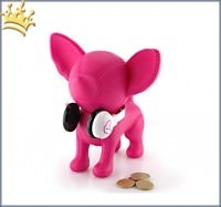 Hundespardose Chihuahua Goes Music Magenta