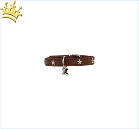 Hundehalsband Silverstars Braun