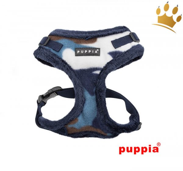 Puppia Softgeschirr Corporal Camouflage Blau