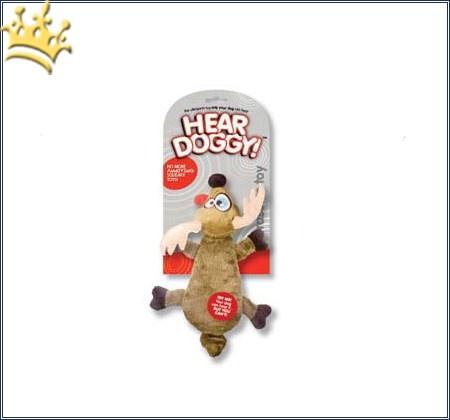 Hundespielzeug Rentier Braun mit lautlos Squeaker