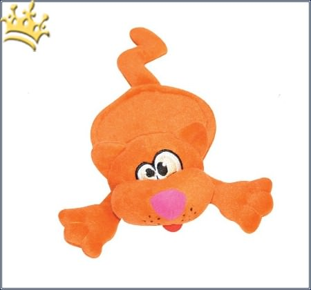 Hundespielzeug Cat Orange mit lautlos Squeaker