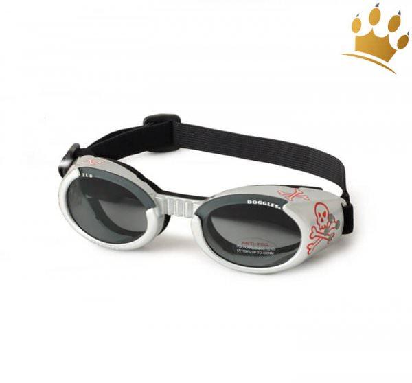 Doggles® Hundesonnenbrille Silver Skull ILS